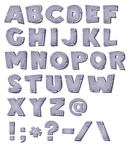 Dessin alphabet pierre