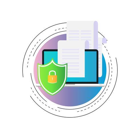 Datasäkerhet gradient färg vektor illustration design