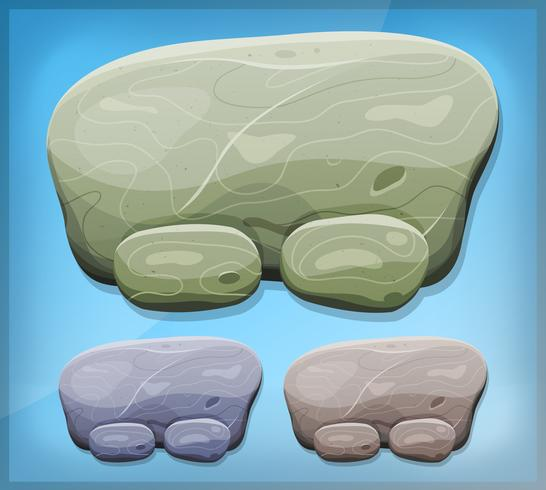 Cartoon Stone Sign per Ui Game vettore