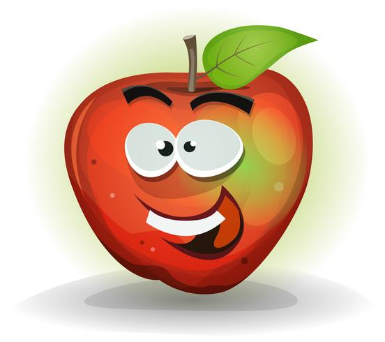 Rolig Apple Fruit Character