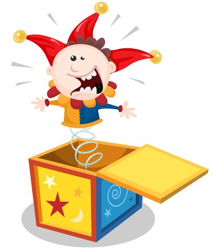 Cartoon Jack In Box vektor