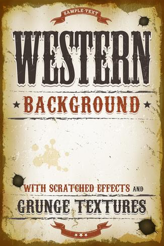 Vintage fond occidental vecteur