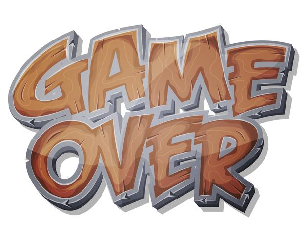 Game Over Wooden Icon para Ui Game