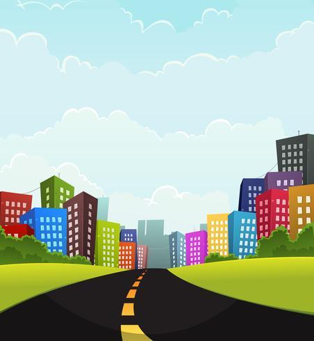 Estate o città primaverile vettore