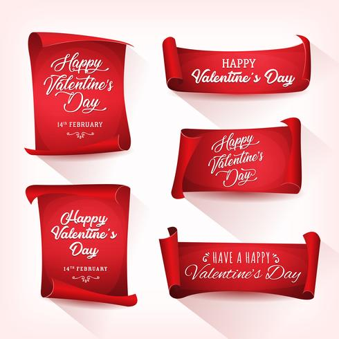Happy Valentine's Day Banners vector