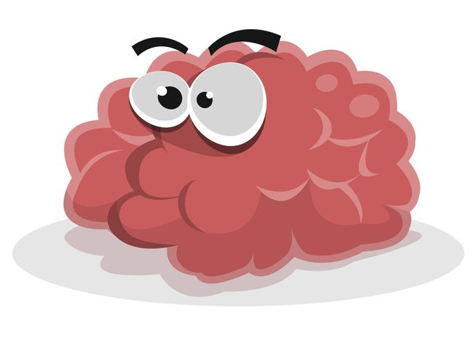 Grappig hersenpersonage