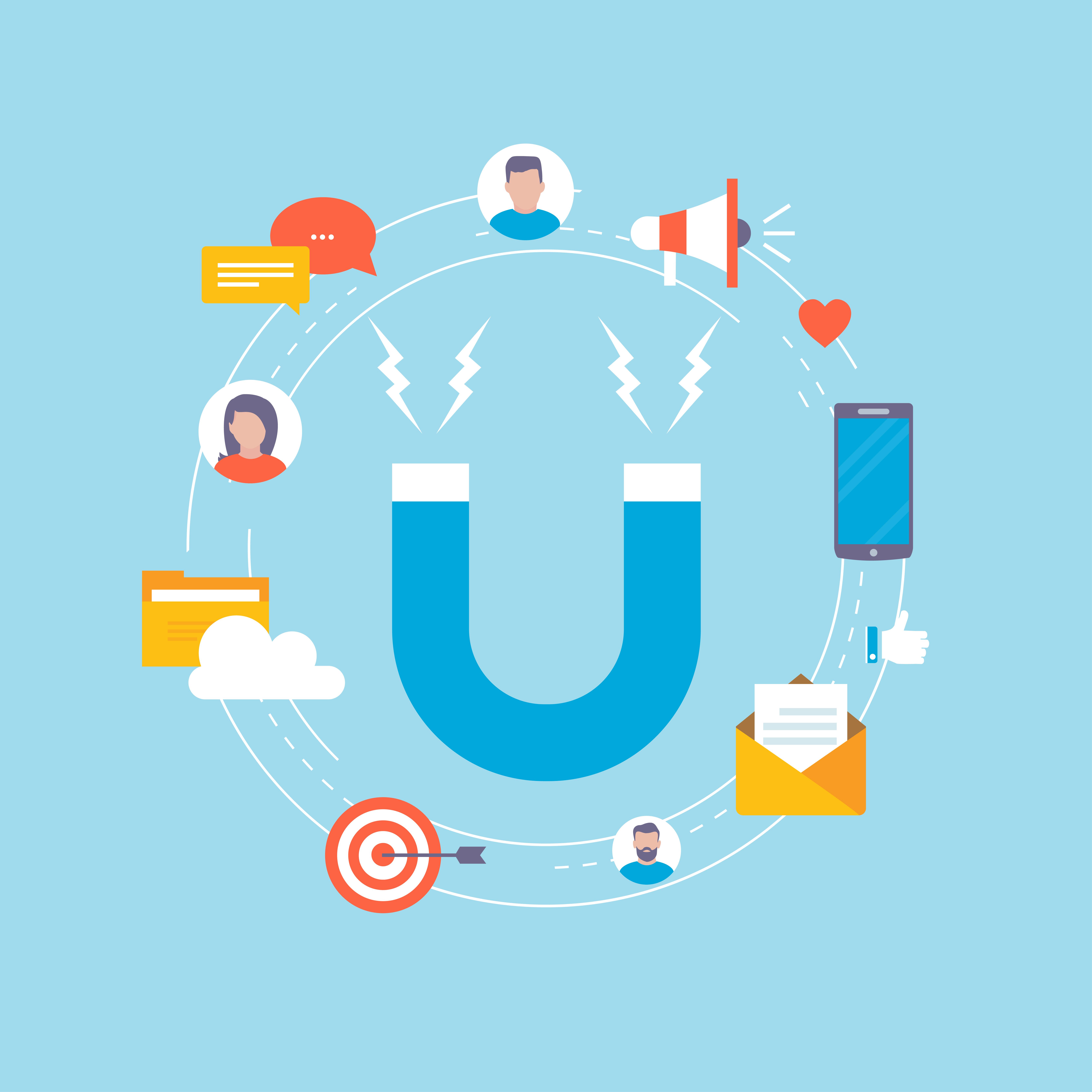 Vector Illustration Web Designs: Target Market Concept Illustration Design For Web Banners