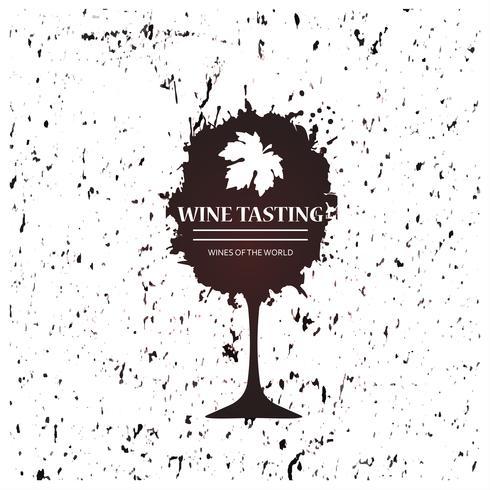 Weinglas-Werbebanner für Weinverkostung