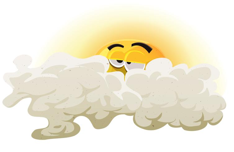 Personnage de dessin animé endormi soleil vecteur