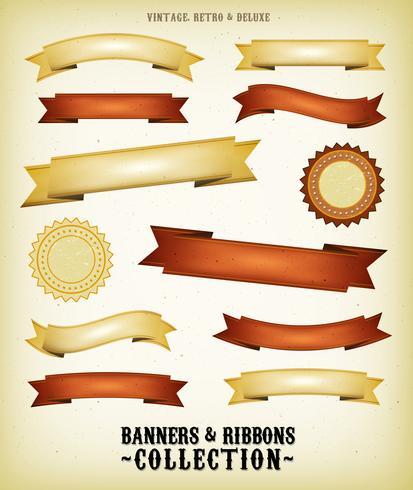 Banners Vintage e conjunto de fitas