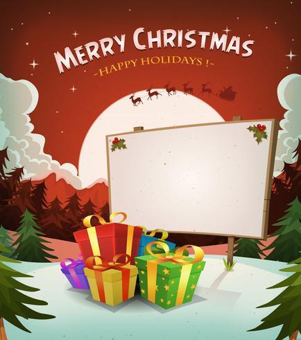 Christmas Holidays Landscape Background vector