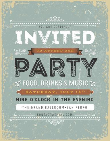 Sinal de convite vintage