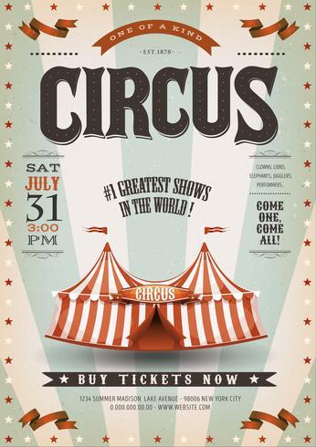Retro en Grunge Circus achtergrond vector