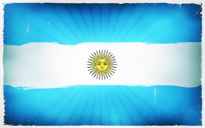 Vintage Argentina Flag Poster Background