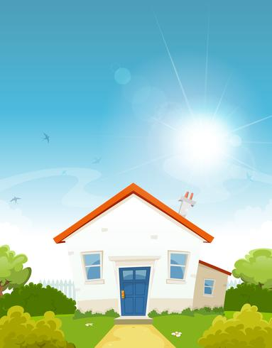 House Inside Spring Garden vector