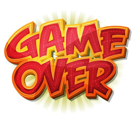 Game Over Icon voor Ui Game vector