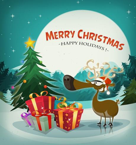 Feliz navidad vacaciones fondo