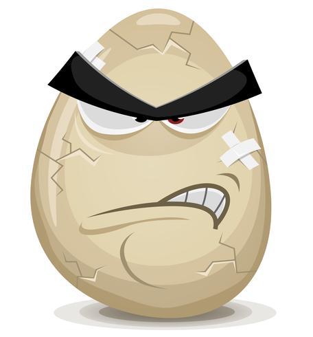 Caráter irritado do ovo