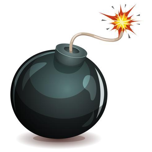 Bomba a punto de explotar vector