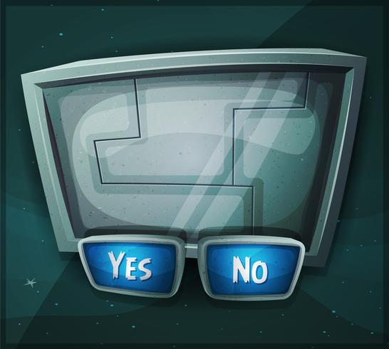Space Scifi-bord voor Ui-spel vector