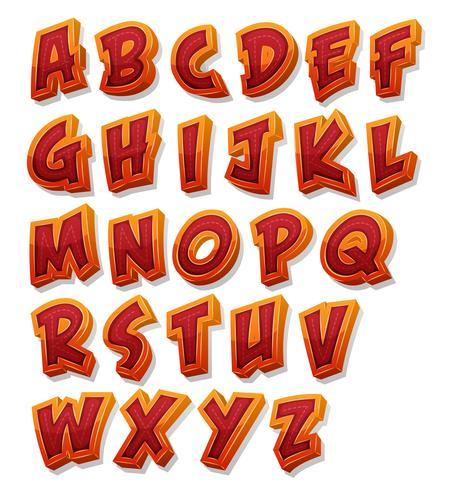 conjunto de fuentes cómicas del alfabeto