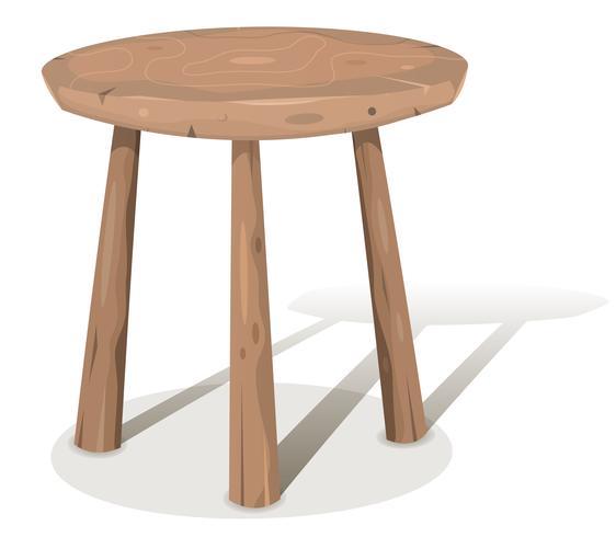 Sgabello di legno
