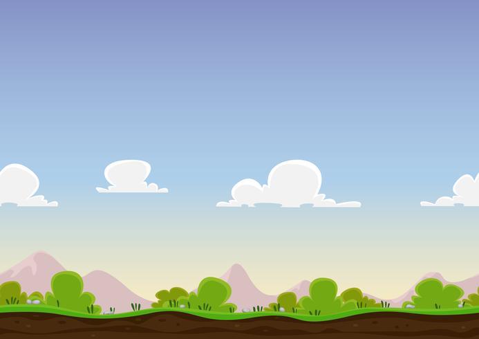 Paesaggio di primavera senza soluzione di continuità vettore