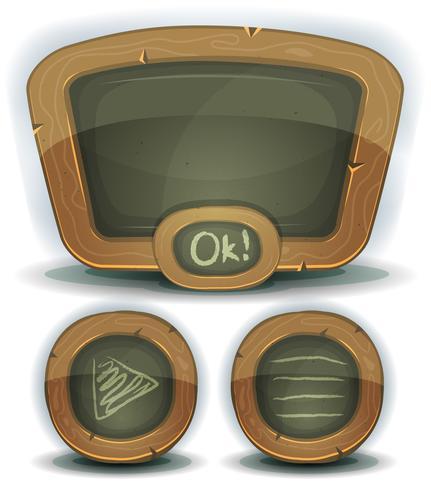 Tableau des icônes de l'école pour le jeu de l'interface utilisateur