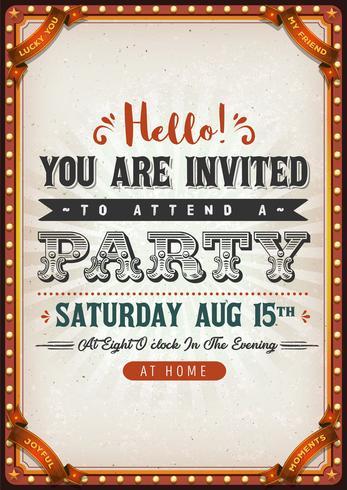 Vintage Party Invitation Card vector