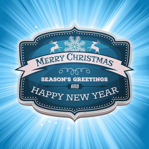 Frohes Neues Jahr und Frohe Weihnachten Banner