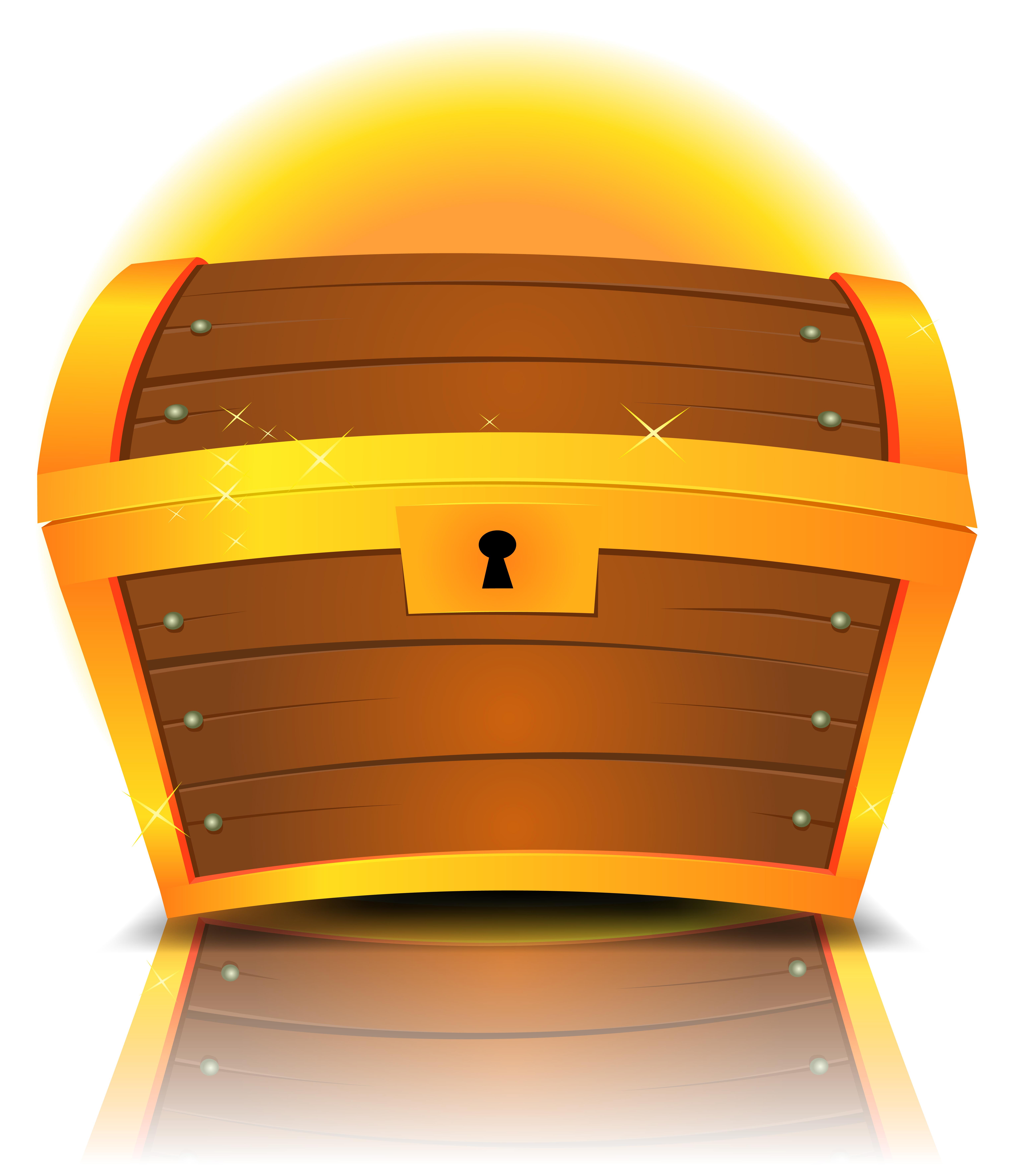 closed cartoon treasure chest download free vectors