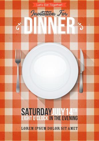 Abendessen Einladung Hintergrund