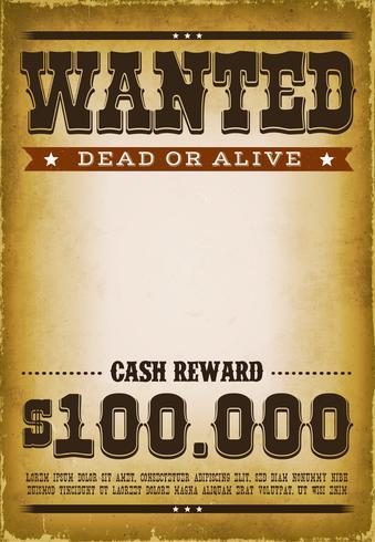 Fundo de cartaz ocidental procurado