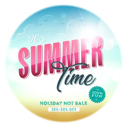 Summer Time Template Badge vector