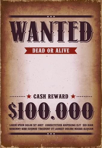 Wanted Western Poster Background