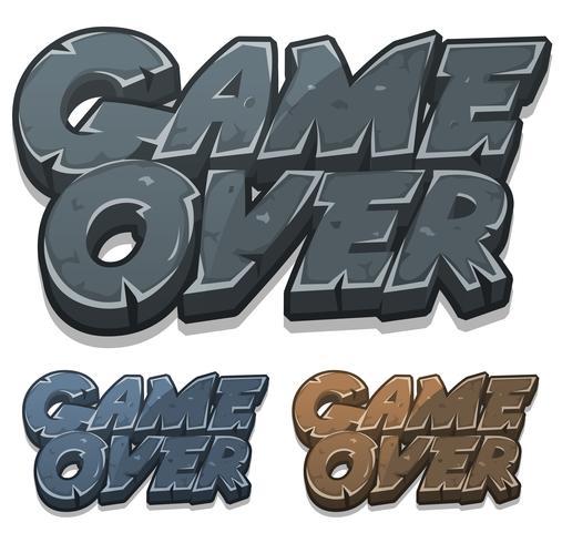 Cartoon Game Over Icon für Ui-Spiel vektor