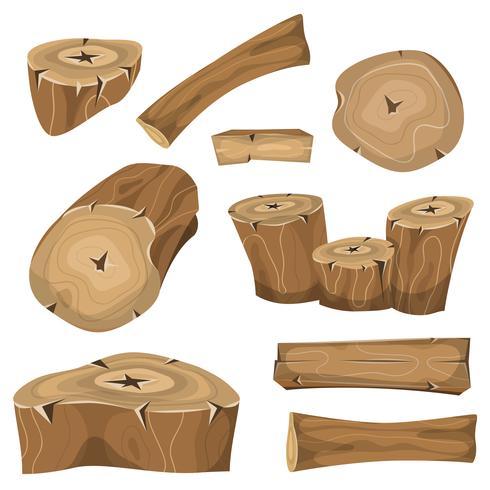 Hölzerne Protokolle, Stämme und Planken Set