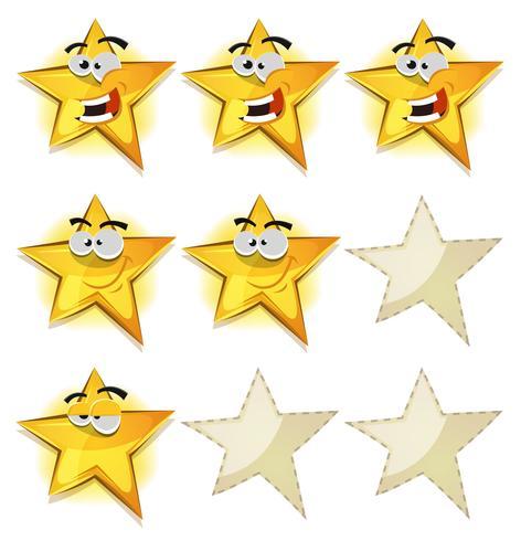Lustige Sterne Icons für Ui Game Score