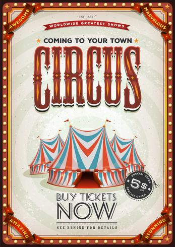 Poster velho do circo do vintage