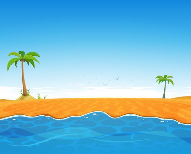 Praia tropical do verão vetor