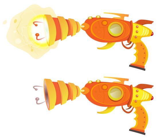space laser ray gun vector