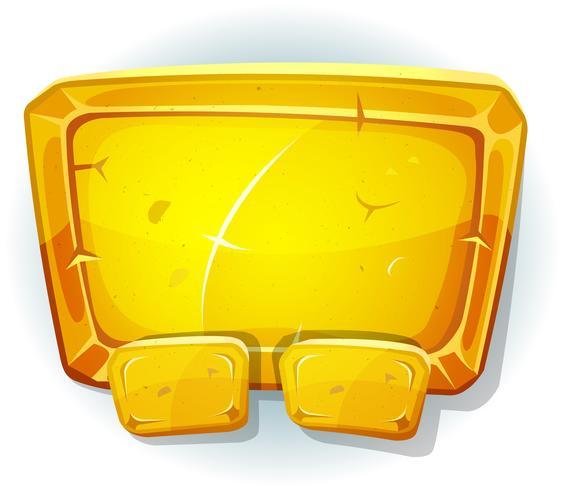 Cartone animato d'oro per il gioco Ui vettore