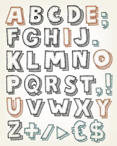 Mão desenhada ABC Elements