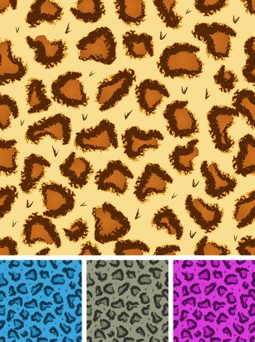 Fundo de pele de leopardo ou chita sem costura vetor