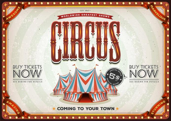 Vintage Old Circus Poster