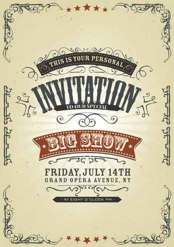 Fond d'Invitation Vintage vecteur