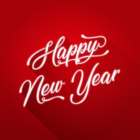 Felice anno nuovo Lettering Card