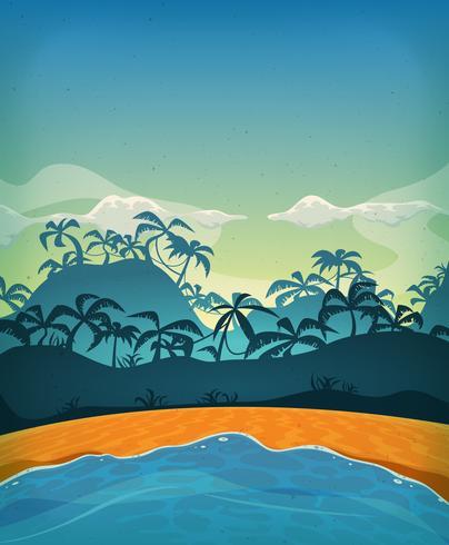 Sommar Tropical Desert Island vektor