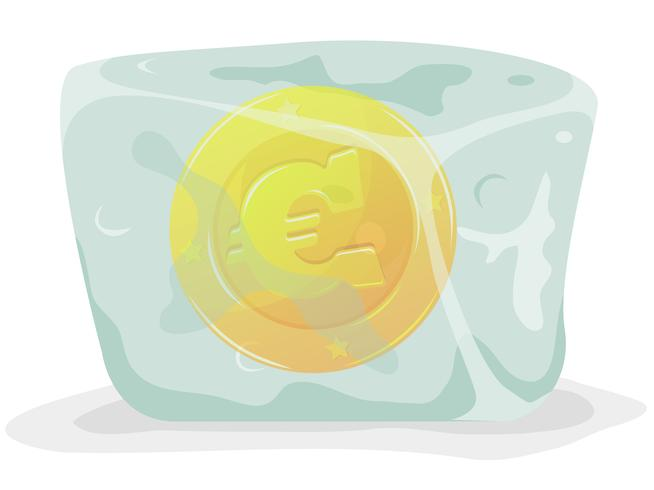 Frozen Euro Coin
