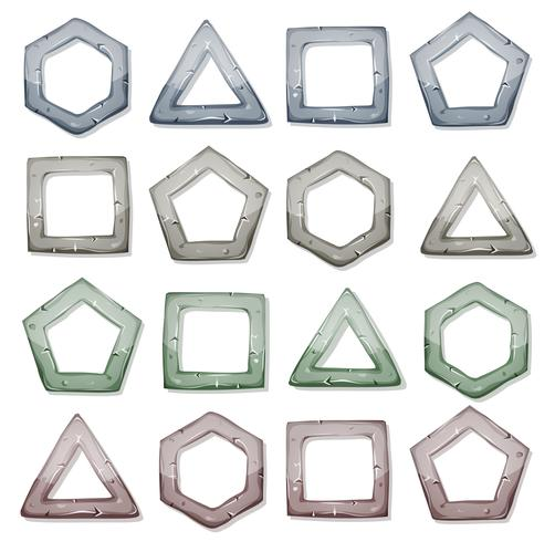 Stone Squares, Triangles And Other Shapes Set vector